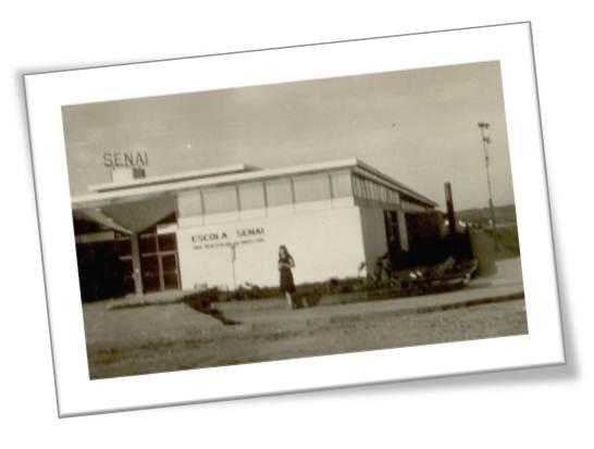 Fachada da Escola SENAI Sorocaba em 1960