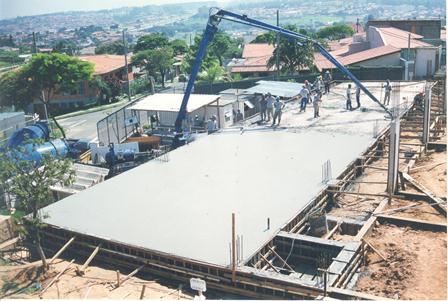 Fotos da construção do Bloco B da escola SENAI Sorocaba